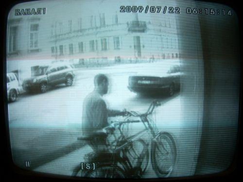 Cykeltjuven på stillbild
